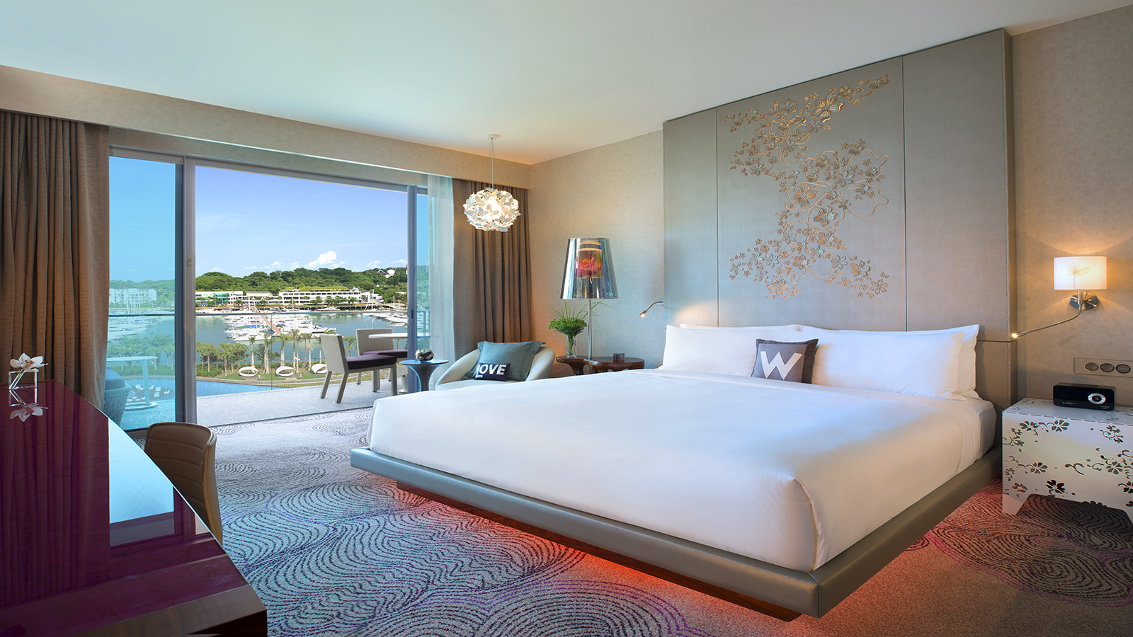 Sentosa luxury hotel spectacular away room at singapore for W hotel bedroom designs